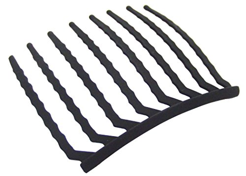 (リトルムーン) Eコーム -8本櫛- マットブラック インナー ヘアアクセサリー 簡単 まとめ髪 夜会巻き iprlm024mbmbk