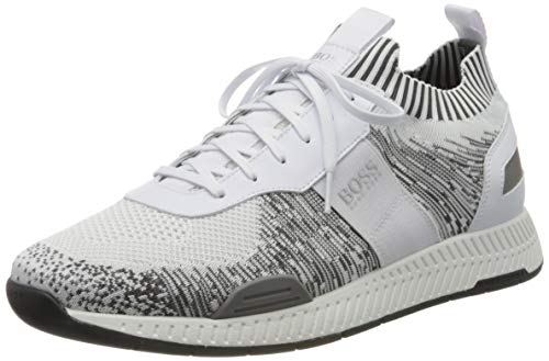 BOSS Herren Titanium_Runn_ks20 Sneaker, Weiß (Open White 120), 44 EU