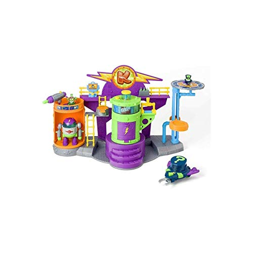SuperZings - Laboratorio Kazoom Lab Battle (PSZSP112IN10) con Figuras de Enigma y...