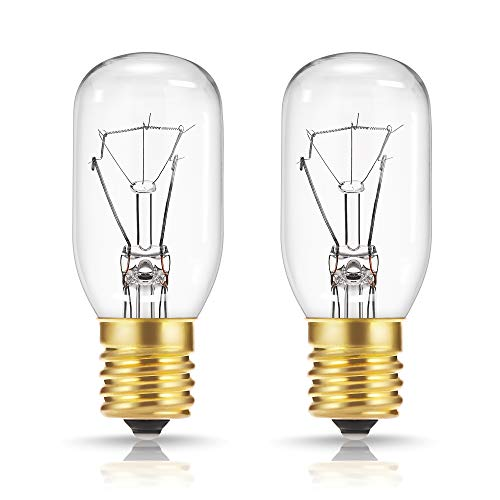 40 Watt Appliance Light Bulb, DORESshop T8 Tubular Incandescent Light Bulbs, Microwave Oven Replacement Bulb, E17 Indicator Intermediate Base, Dimmable , Warm Whte Glow, 2Pack