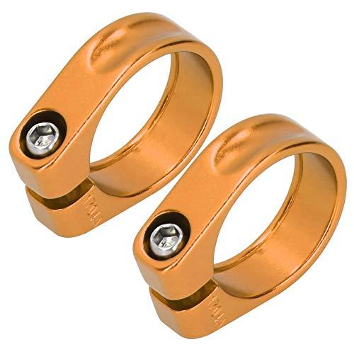Pwshymi Abrazadera Anti de la tija de sillín de la Bicicleta del Clip del Tubo del Asiento de la Bici del Moho, para Otras Bicicletas(Golden)