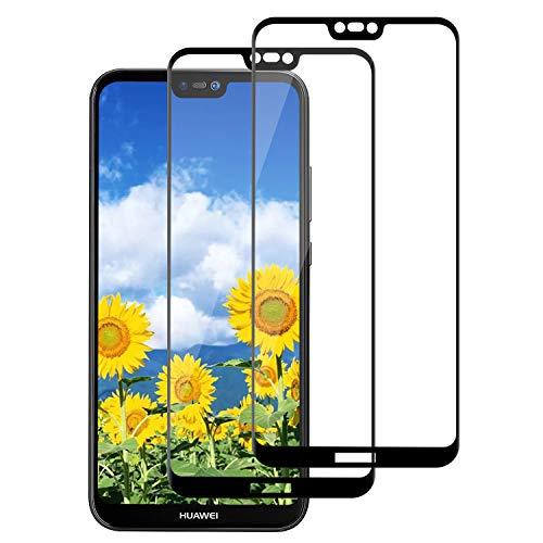 DASFOND Verre Trempé pour Huawei P20 Lite,[2 Pack] [3D Incurvé Couverture] Vitre écran Samsung Huawei P20 Lite,Protection Écran pour Huawei P20 Lite [Anti Rayures],Film Protection écran P20 Lite