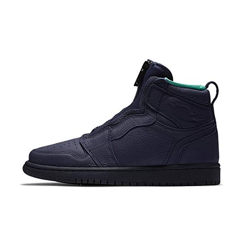 Nike Damen WMNS Air Jordan 1 High Zip Fitnessschuhe, Mehrfarbig (Blackened Blue/Neptune Green/White 403), 38 EU