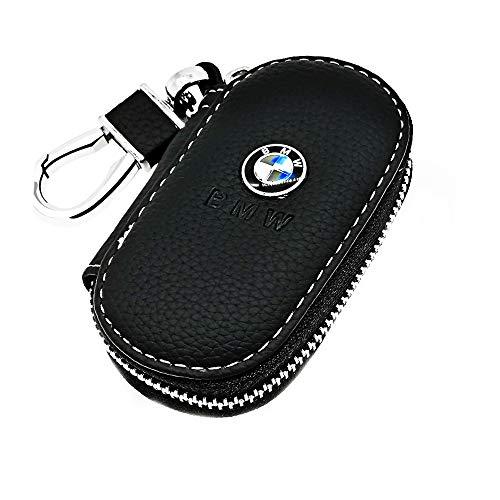 VILLSION Echtes Leder Schlüsselmäppchen Auto Schlüsselhalter Auto Anhänger mit Edelstahlhaken für Herren Frauen
