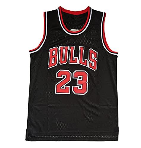 Jordan 23# Camiseta de Baloncesto, Chaleco Transpirable Fresco de los Hombres, Sudadera de Malla de poliéster Retro Top sin Mangas (S-XXL) Black-XXL