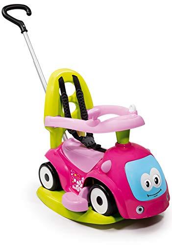 Smoby 720303 - Maestro Balade Pink - Komfortables Rutscherfahrzeug mit 4 Verwendungsfunktionen, Schaukelwippe, Schiebewagen, Lauflernhilfe und Rutscherfahrzeug, für Kinder ab 6 Monaten