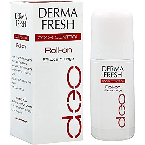 Dermafresh Odor Control Roll-On Deodorante Attivo per Ridurre l Impatto Olfattivo del Sudore Particolarmente Maleodorante - 30 ml