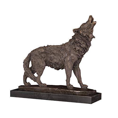 zzzddd Skulptur,Antike Bronze Ing Wolf Statue, Bronze Gegossen, Wolf Skulptur