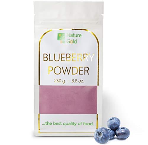 BLAUBEEREN Pulver | Wilde Heidelbeerpulver | 250 g 8.8 oz | 100% Naturnah | für Veganer ohne Zucker ~*~