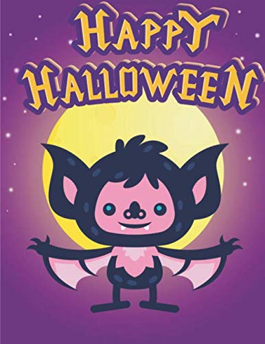 Halloween Coloring Books For Kids Ages 4-8: 110 Pages | One-Sided Printing (Safe For Markers, Paint, Crayons) | Girls And Boys | Children's Halloween Gift