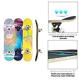 Zoom IMG-2 tackly skateboard professionale ragazza bambino