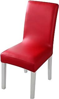 4 fundas para sillas de comedor, de piel sintética, desmontables, lavables, para silla de comedor, decoración del hogar, comedor