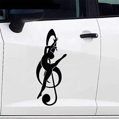 Elegante Noten Tänzer tanzen Auto Aufkleber Cartoon Auto Styling Grafik Aufkleber für Auto Laptop Fenster Aufkleber
