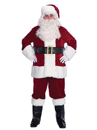 Halco Velveteen Santa Suit- Size 42-48 jacket up to 52 waist