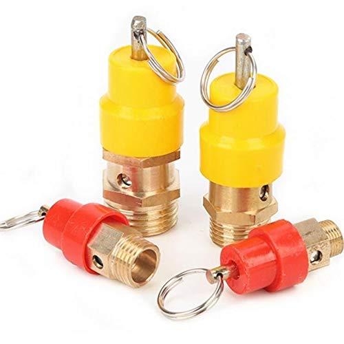 no-branded 4pcs BSP 8kg Air Compressor Safety Relief Valve Pressure Release Regulator 1/2