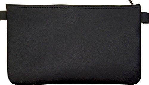 Banktasche aus Kunstleder, Farbe: schwarz