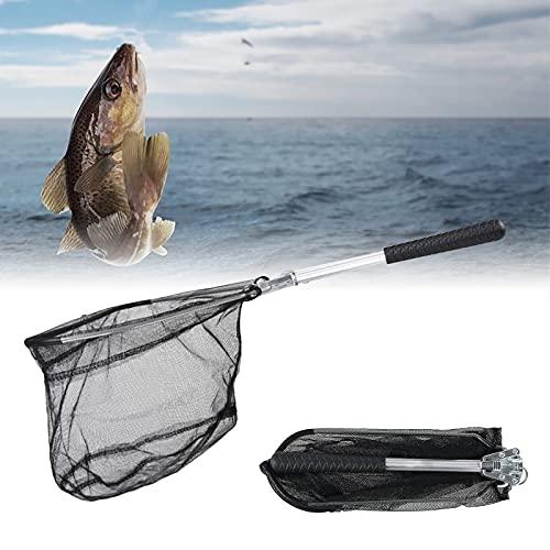 Mecmbj Sacaderas para Pesca Plegable, Red de Pesca Portátil Red de Aterrizaje de Pesca Pesca Accesorios con Mango de Aluminio para Estanques, Carpas y Truchas