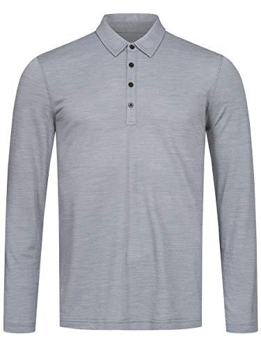 super.natural Everyday Ls T-Shirt à Manches Longues pour Homme M Mélange de Gris argenté.