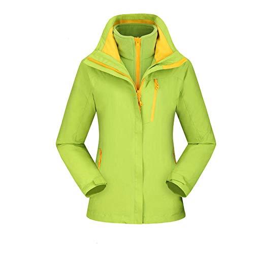 Aerlan Winterjacke mit Kapuze,Wasserdicht Winddicht Jacke,Arbeitskleidung im Freien kältebeständig warme Windjacke Jacken Verdickung Plus Samt-Female D_M #