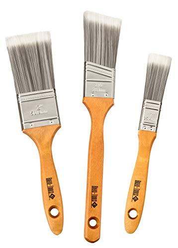 """Babo-Tools® Pinselset - Flachpinsel, 3 Stück, Profipinsel mit Kunststoffborsten. 1"""" 2"""" 1 1/2"""" - Premium Pinsel Set - No Loss Pinsel"""