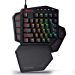Redragon K585 DITI One-Handed RGB Mechanical Gaming Keyboard, Blue Switches, Type-C Professional Gaming Keypad with 7 Onboard Macro Keys, Detachable Wrist Rest, 42 Keys (Renewed)