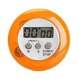 ENERGY01 - Temporizador digital de cocina magnético con alarma sonora, pantalla LCD, color naranja