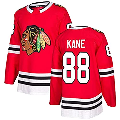 XIKADAN NHL Jersey Chicago Blackhawks 88# 2# 50# Herren-Sweatshirt, atmungsaktiv, langärmlig, Filmversion, Eishockey-Trikot (S-XXXL), 88, L