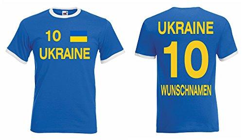 Ukraine Retro Trikot mit Wunschname und Wunschnummer EM 2016|S
