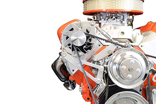 ICT Billet BBC Billet Alternator Bracket Adjustable LWP Big Block Chevy Long Water Pump Kit Aluminum 396 402 409 427 454 502 V8 Eight Cylinder Designed & Manufactured in the USA 551663
