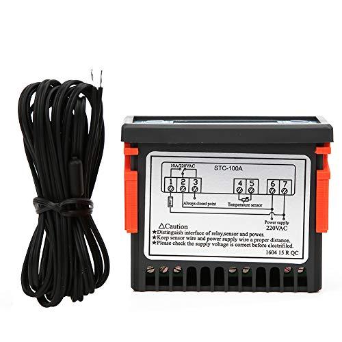 Controlador de temperatura de CA de congelación de 220 V, termostato de -50 ℃ ~ 99 ℃, ajustable para control de temperatura para compensación de temperatura