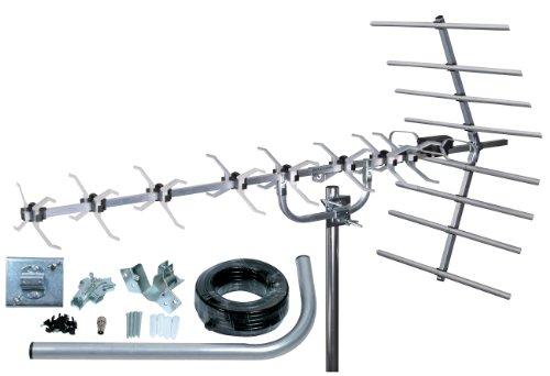 Loft & Outdoor Digital TV Antenne, SLx 27884K4 4G, gefiltert, 48 Elemente Antenne für Digitalfernseher mit Full Kit High Performance