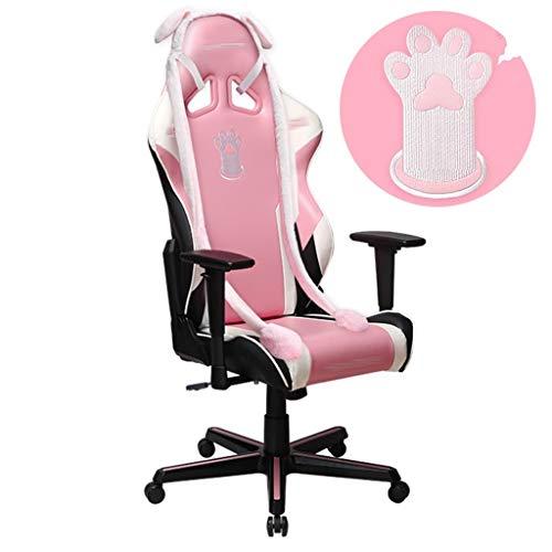 Sillas de escritorio Silla para computadora Goddess Exclusive Game Gaming Chair Dormitorio para niñas Silla giratoria rosa Little Fairy Home Cómoda silla trasera ( Color : Pink , Size : 70*70*136cm )