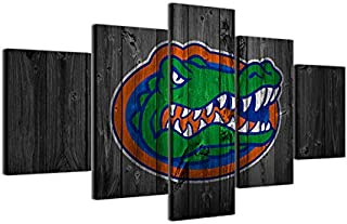 WSJXY 5 Canvas Paintings Framed Wall Art Picture HD Print Rugby Football Canvas Painting 5 Piece Modern Room Decor Basketball Sports Gators Poster