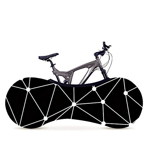 Bicicleta Protección 26-29 pulgadas Cubierta de bicicletas serie geométrica Línea cubierta cubierta de la bici Funda Accesorios for bicicletas a prueba de polvo bolsa de almacenamiento resistente a lo