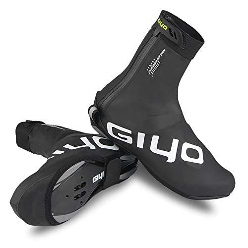 Lixada Copriscarpe Invernale con Blocco Impermeabile Antivento Scarpe Protettore Vello Caldo Termico per Il Ciclismo MTB Bici da Strada M-2XL