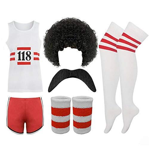 118 FANCY DRESS Mens Ladies costume COMPLETE SET Marathon Retro outfit 38 chest by PAPER UMBRELLA