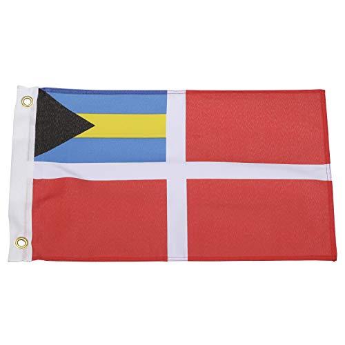 Seachoice 78241 Bahamas Courtesy Flag – 18 x 12 Inch Nylon Flag – Canvas Header and Brass Grommets