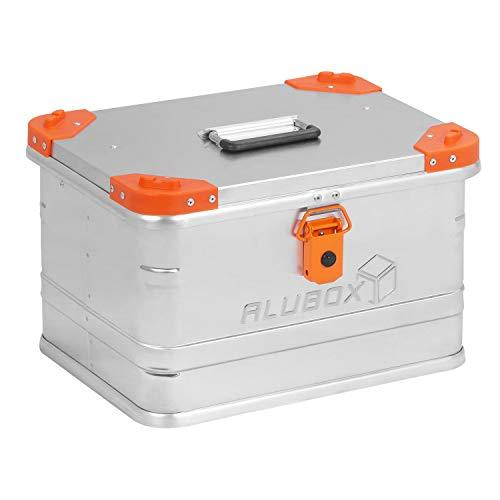ALUBOX D29 Premium Aluminium Lagerbox Alukiste 29 Liter mit Stapelecken