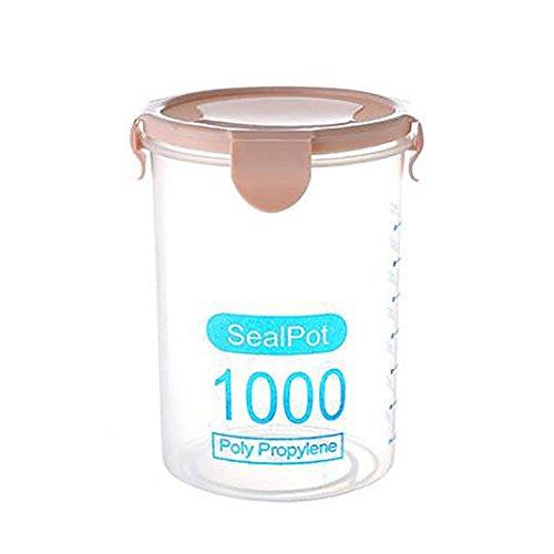 geleide voorraadbak, MagT transparante zegelbakjes voor keuken en voedsel dranken, notenbewaarbak. roze