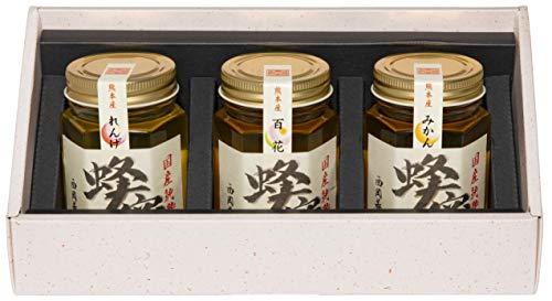西岡養蜂園 国産 熊本県産 純粋 はちみつ 3本セット