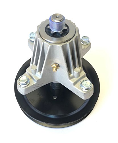 Updated (Threaded mounting Holes w/ bolts) Spindle - Compatible With: MTD Spindle 918-04865A, 618-04636, 918-04636, 618-04636A, 918-04636A