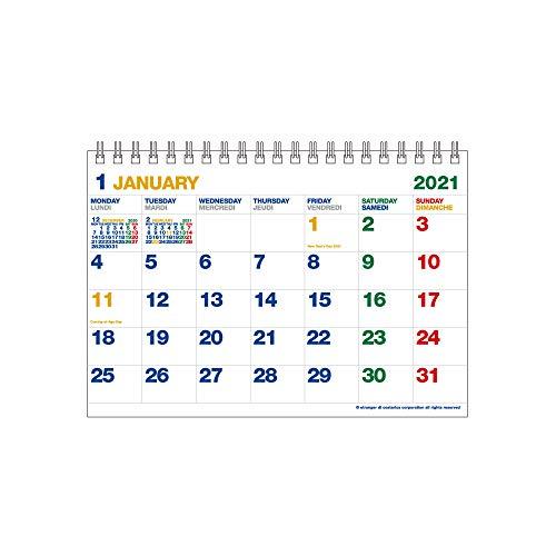 エトランジェディコスタリカ 2021年 カレンダー 卓上 B6 カラー 0102-CLT-G-11