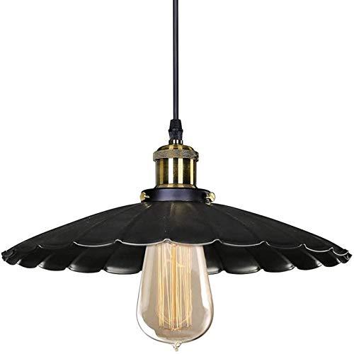 HCMNME Lámpara Industrial, Sombra de luz del Colgante Industrial del Metal Negro de la Vendimia Negra (bulbos no incluidos),Decoración del hogar