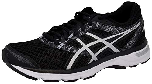 ASICS Women's Gel-Excite 4 Running Shoe, Black/Onyx/Silver, 9.5 M US