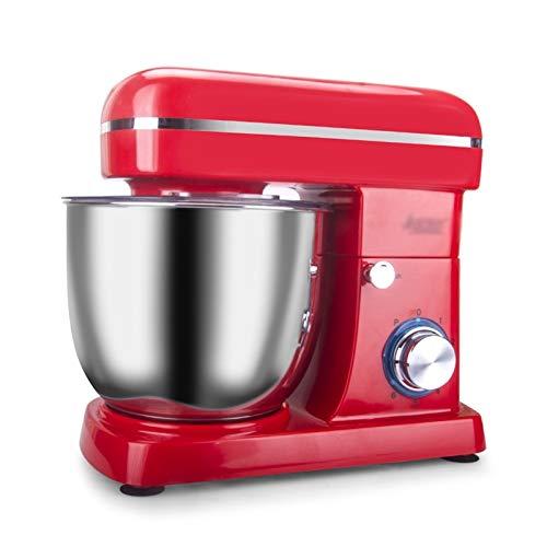 WGYDREAM Batidora Amasadora Robot de Cocina Procesador de Alimentos Dough Blender 1500W Máquina mezcladora de Soporte con 5 l (Color : White)