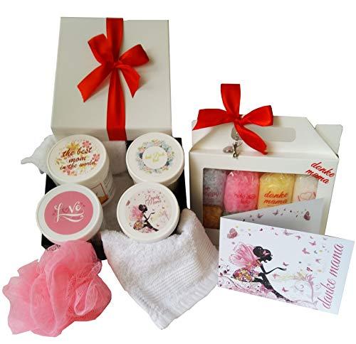 Sel de bain Coffret cadeau pour maman bien-être 16 pièces Avec carte de vœux – Fabriqué en Allemagne – directement du fabricant