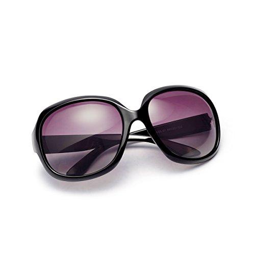 AkoaDa Sonnenbrille Damen Polarisiert Anti-Reflexion 100% UV 400 Augenschutz Brille, Schwarz Sonnenbrille für Fahren, Angeln, Reisen, Outdoor…