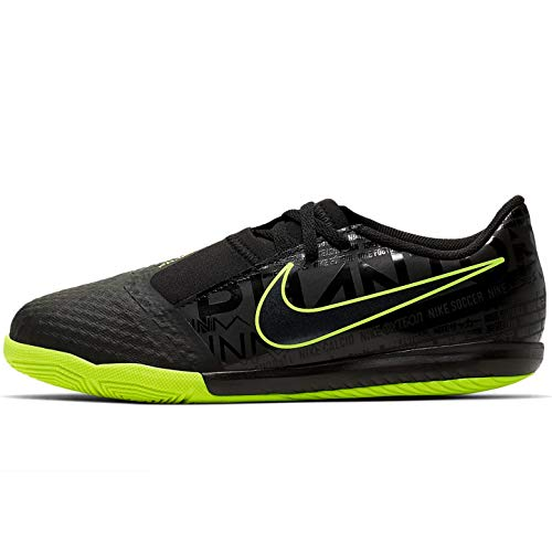 Nike Youth Phantom Venom Academy Indoor Soccer Shoes (11 Little Kid, Black/Volt)