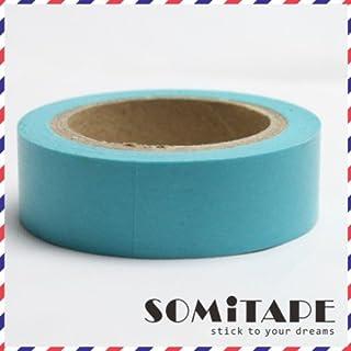 Bleu Turquoise Plaine Washi Tape, Artisanat Ruban décoratif