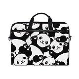 MAHU Laptop Sleeve Case Bag Panda Animal Pattern Messenger Bag Travel Briefcase with Shoulder Strap for 14-14.5 inch Lenovo Dell HP MacBook